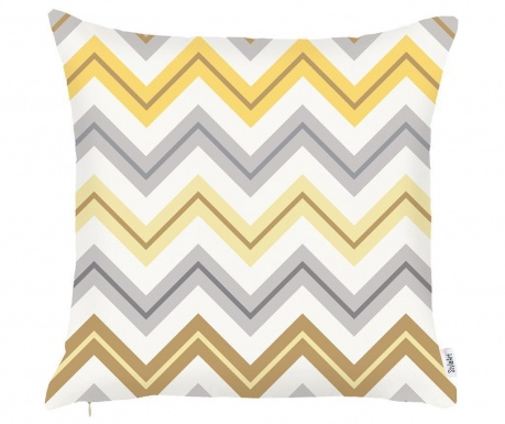 Prevleka za blazino Chevron Trio Yellow Grey 43x43 cm