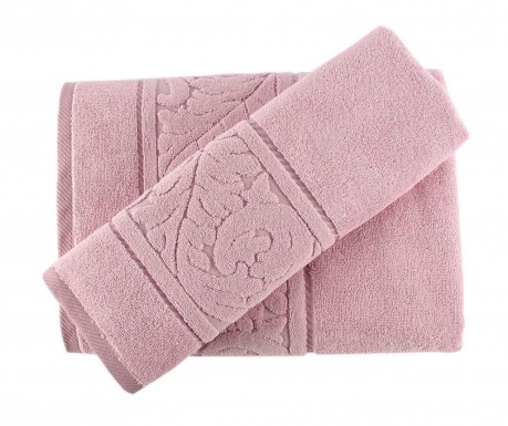 Set 2 prosoape de baie Sultan Rose