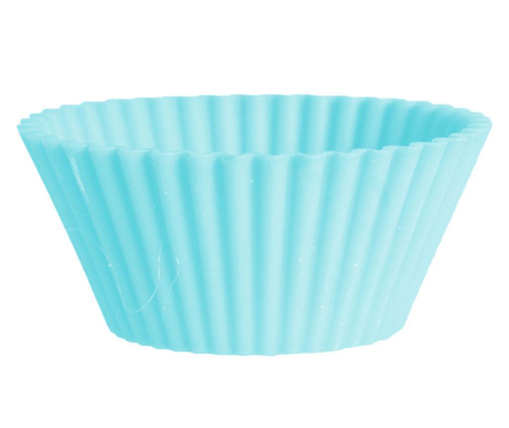 Set 8 modelčkov za peko mafinov Muffin Blue