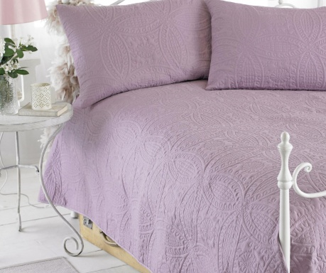 Set s posteljnim pregrinjalom King Parisienne Purple