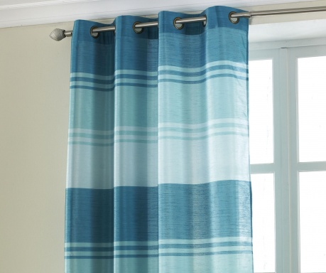 Zasłona Stripe Turquoise 145x228 cm