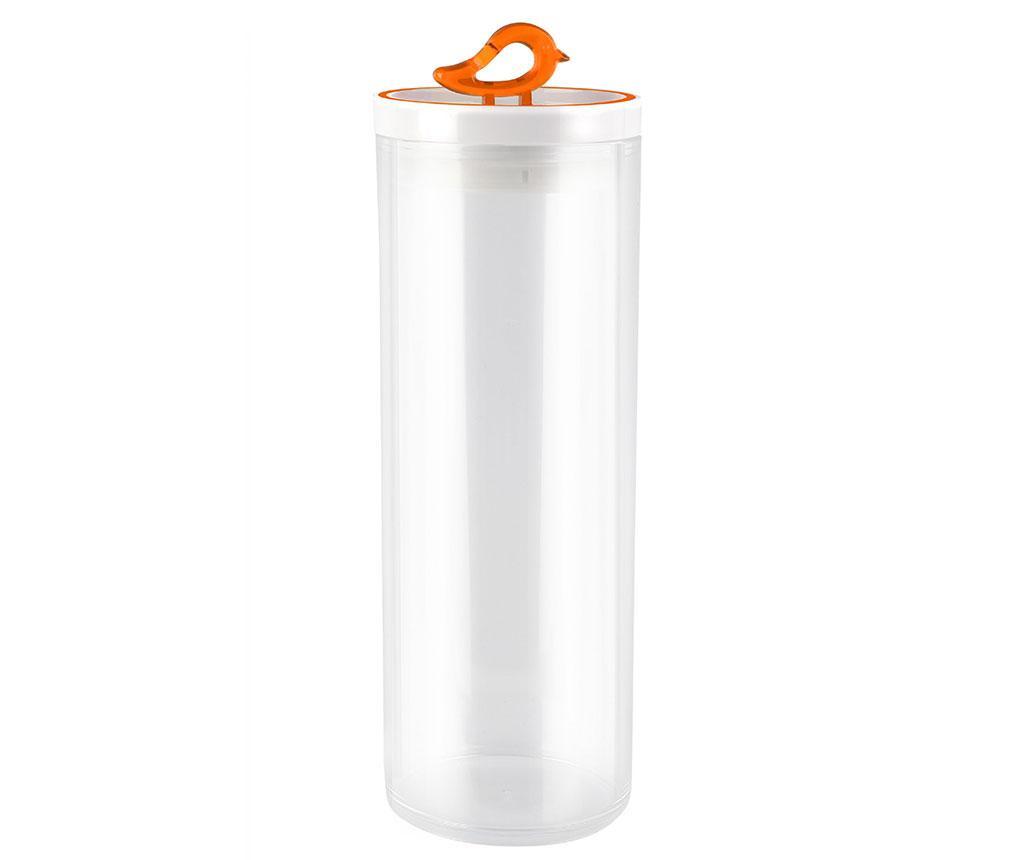 Recipient cu capac Livio Bird Orange 1.8 L