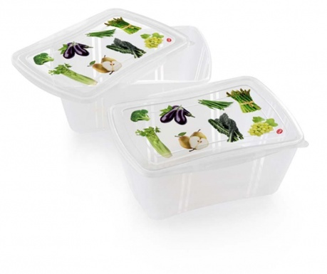 Set 2 posude za hranu Vegetables 2 L