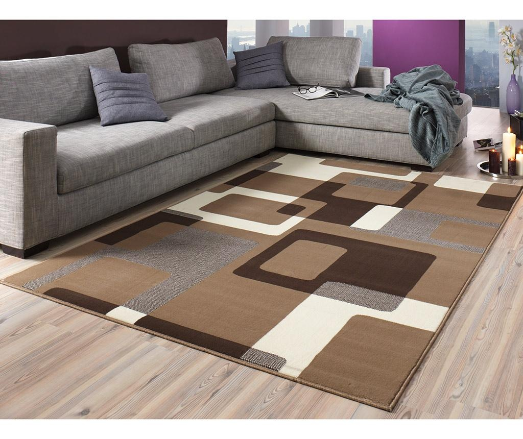 Covor Retro Brown & Cream 80x150 cm