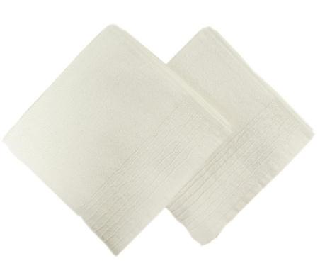 Set 2 prosoape de baie Lines White 50x90 cm