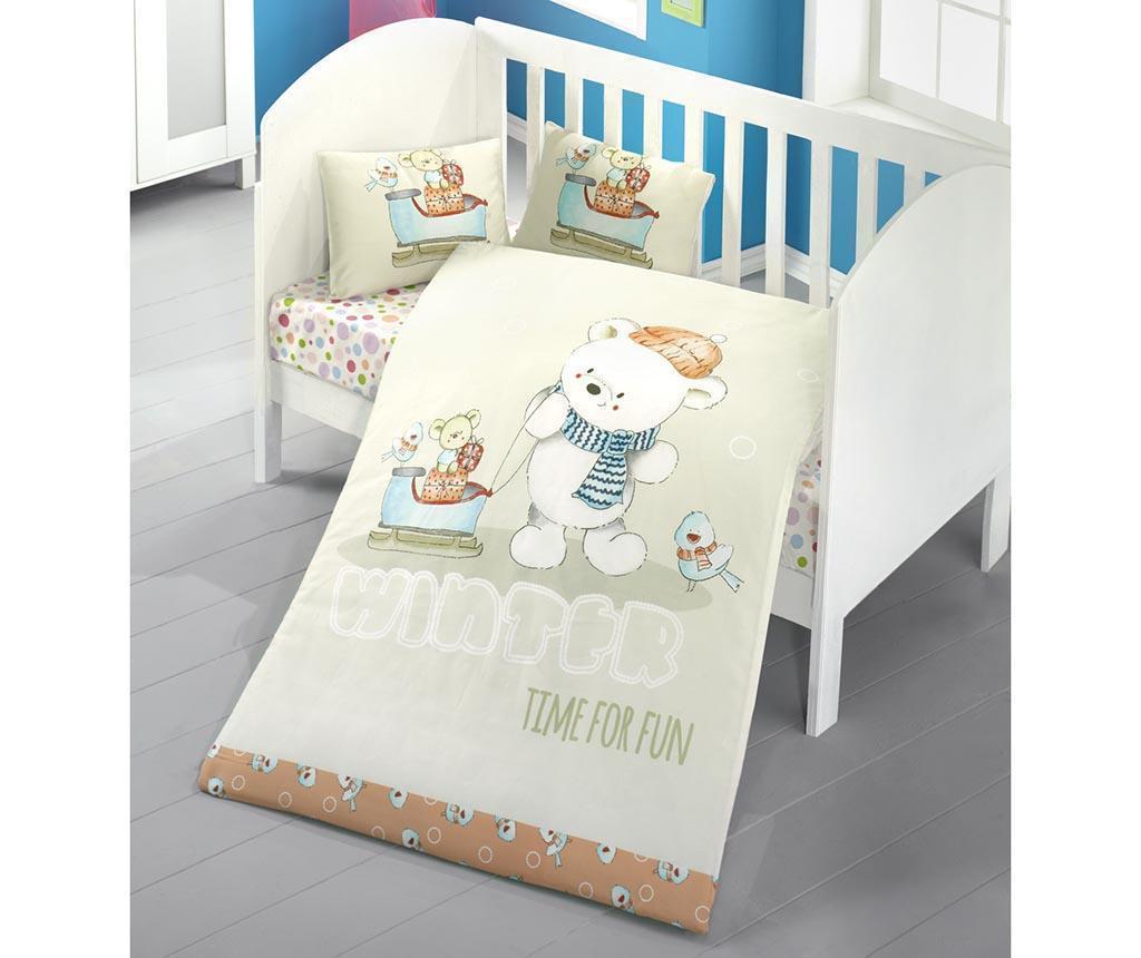 Posteljnina za otroško posteljico Ranforce Super Puppy 100x150