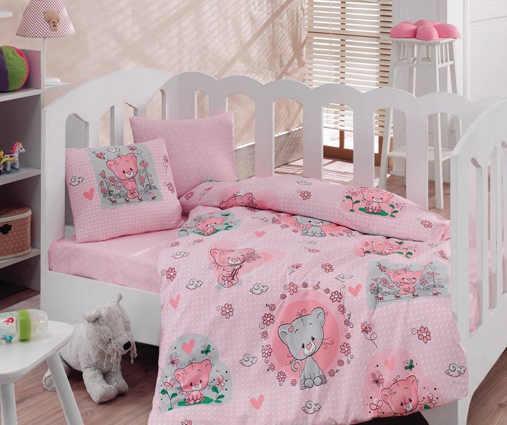 Posteljina za krevetić Ranforce Mini Pink