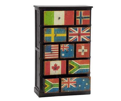 Skříňka Flags