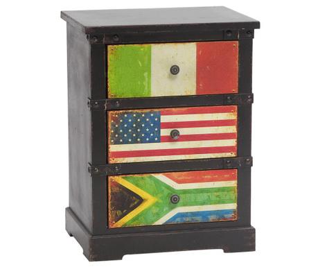 Noční skříňka Flags
