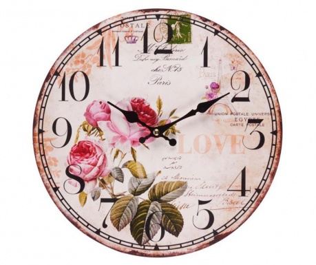 Zidni sat Pink Roses