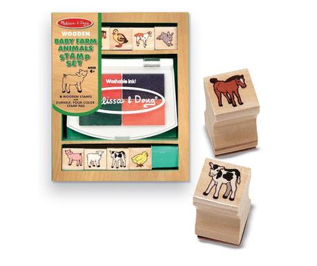 Set 8 pečata, posude s tintom i kutija Animals