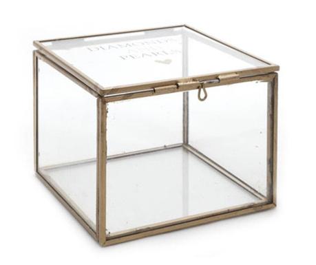 Diamonds and Pearls Square Ékszertartó doboz