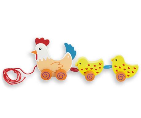 Zabawka do ciągnięcia Hen & Chicks