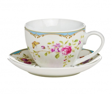 Set of cup and saucer Gentle Rose