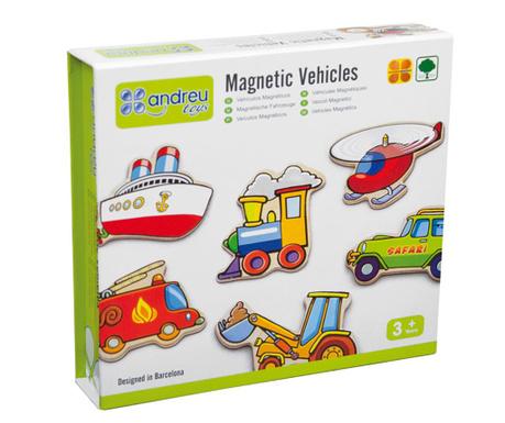 Zestaw 20 magnesów Vehicles