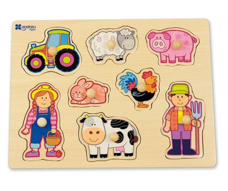 Joc tip puzzle 8 piese One Little Farm