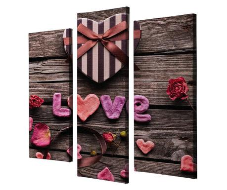 Комплект 3 картини Love