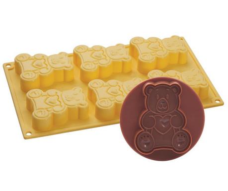 Bear Sütőforma 6 formával és fondant kiszúró
