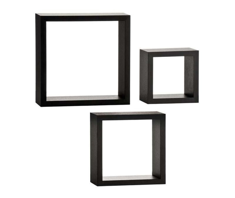 Cubical Black 3 darab Fali polc