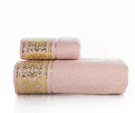 Zestaw 2 ręczniki kąpielowe Flora Pink