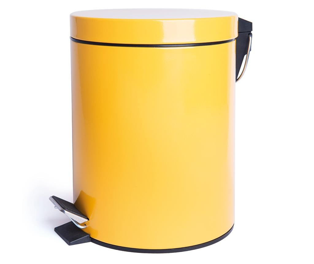 Cos de gunoi cu pedala Complete Yellow 5 L