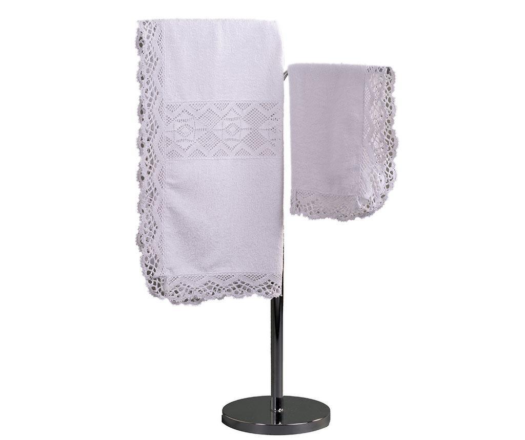 Set 2 kopalniških brisač Lacy White