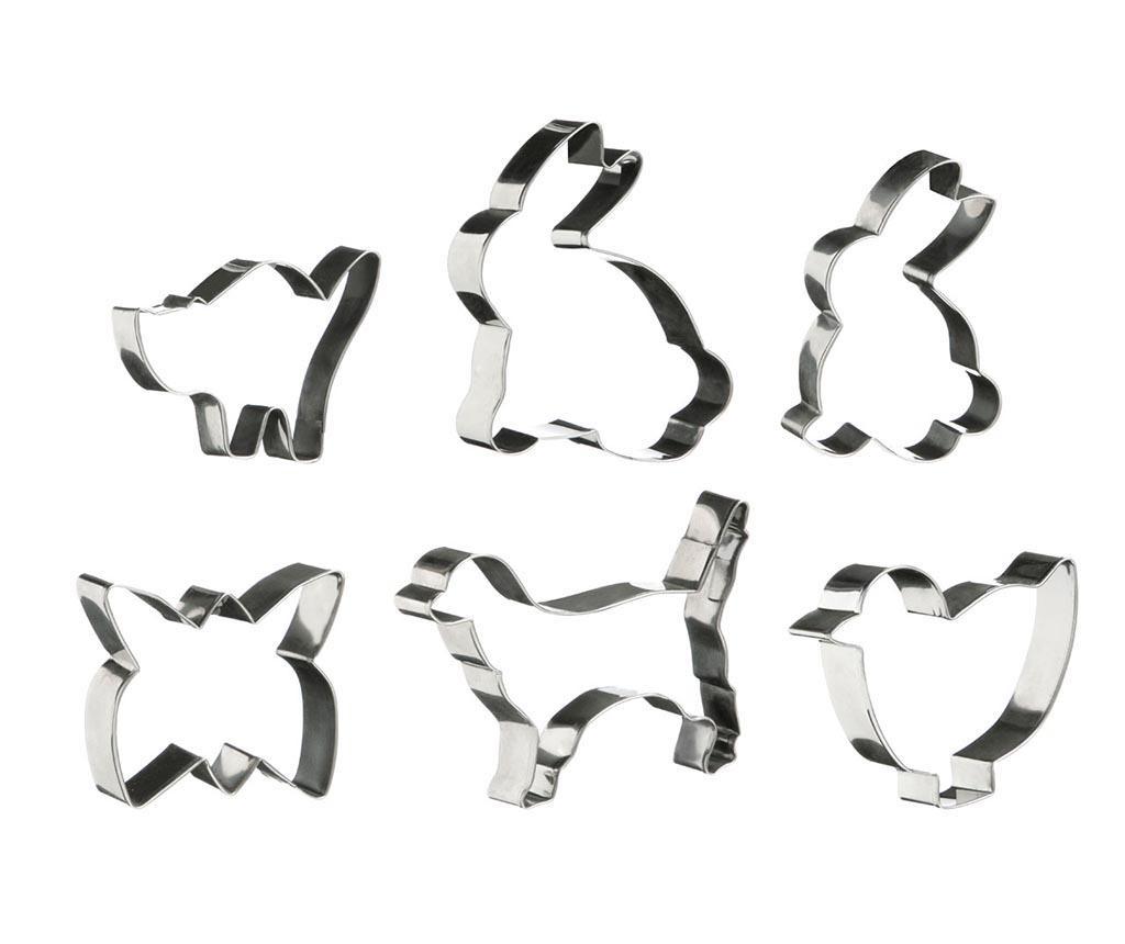 Set 6 forme pentru decupat aluat Animals