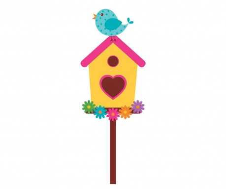 Nalepka Birdie Bird House