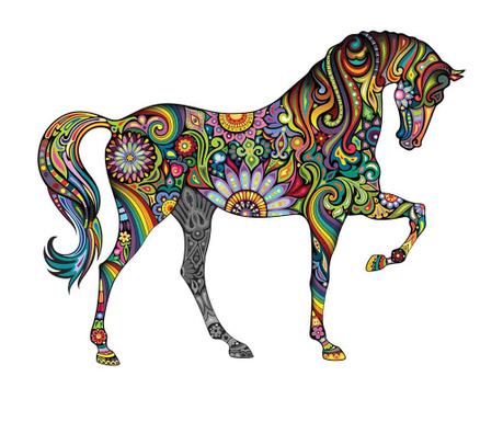 Naklejka Hippie Horse