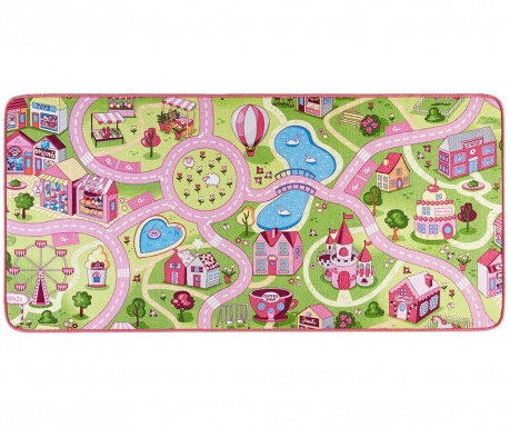Igralna podloga Sweet Town Pink