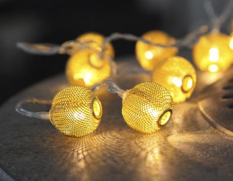 Ghirlanda luminoasa Net Brass