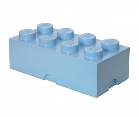 Kutija za pohranu s poklopcem Lego Rectangular Extra Blue