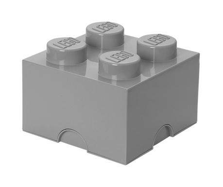 Kutija za pohranu s poklopcem Lego Square Four light Grey