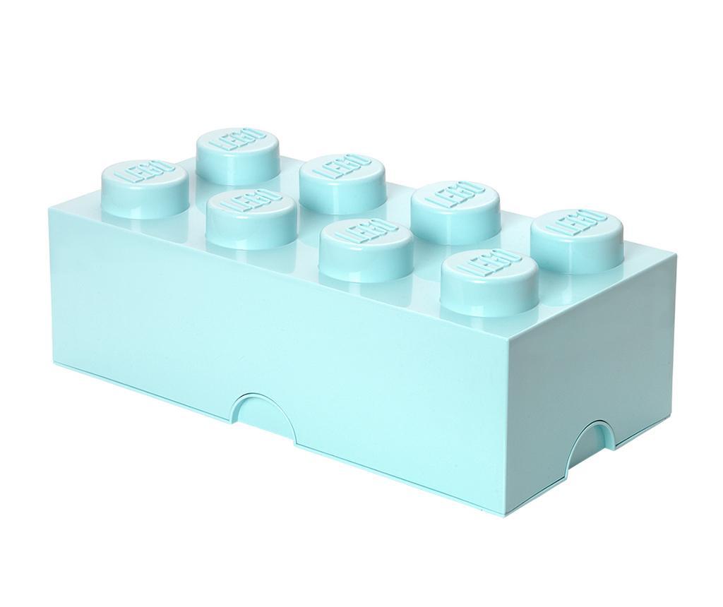 Kutija s poklopcem Lego Rectangular Extra Light Blue