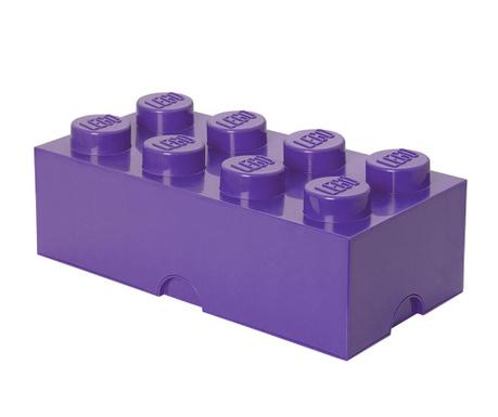 Kutija za pohranu s poklopcem Lego Rectangular Extra Light Lilac