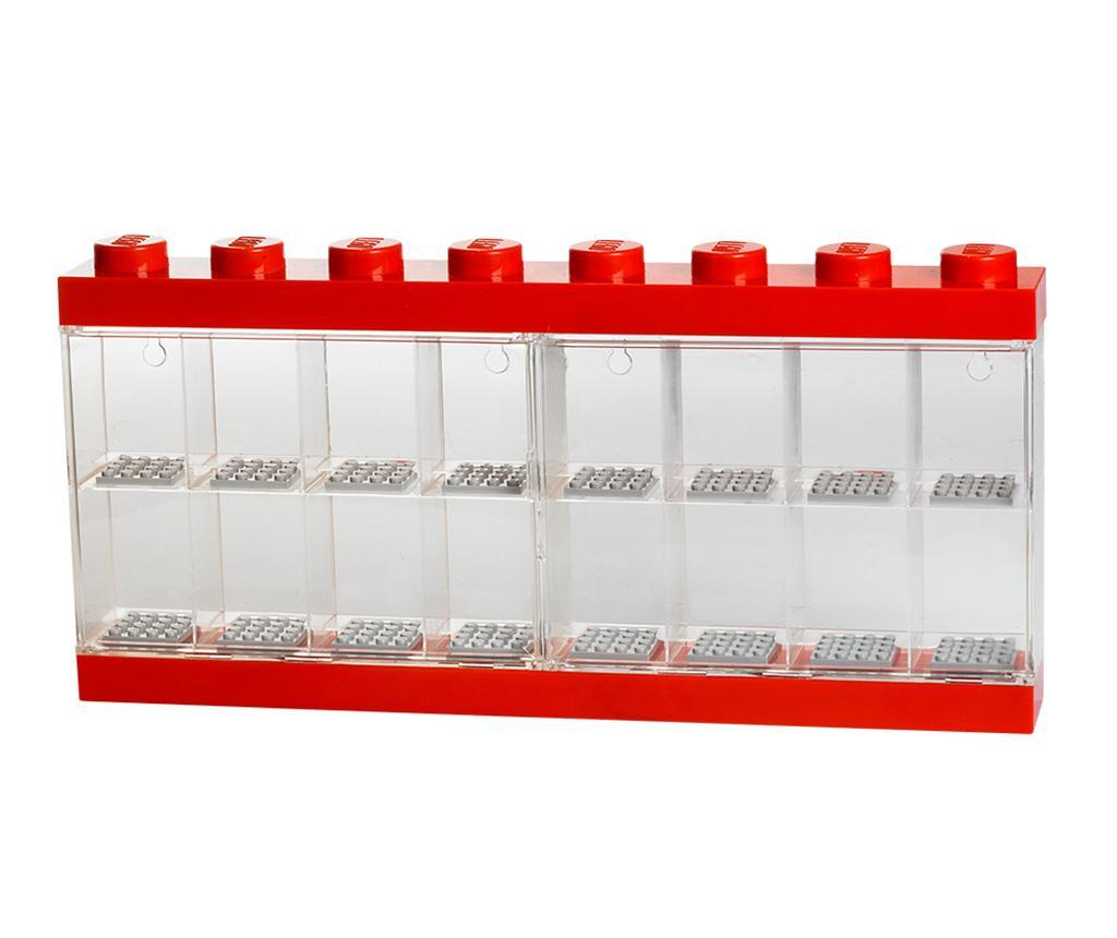 Cutie pentru 16 minifigurine Lego Red