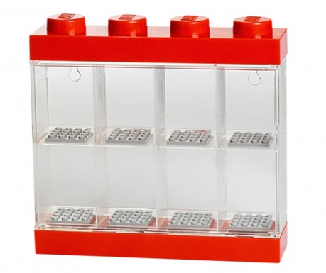 Pudełko na 8 minifigurek Lego Few Red