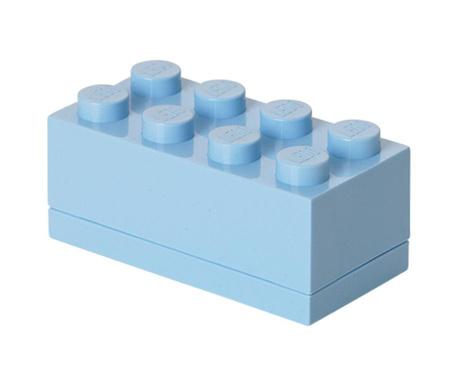 Kutija s poklopcem Lego Mini Rectangular Light Blue