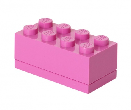 Кутия с капак Lego Mini Rectangular Bright Purple