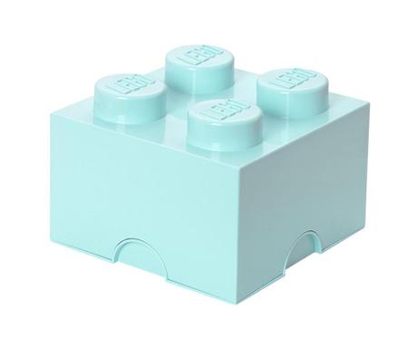 Kutija za pohranu s poklopcem Lego Square Four Light Blue