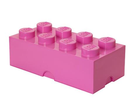 Kutija za pohranu s poklopcem Lego Rectangular Extra Pink