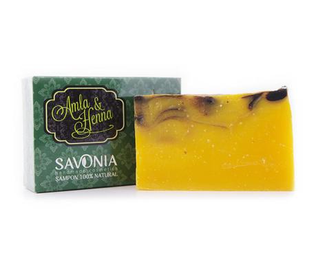 Natural Savonia Szilárd sampon amlával és hennával 90 g