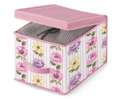 Κουτί με καπάκι για αποθήκευση Beauty Flowers S