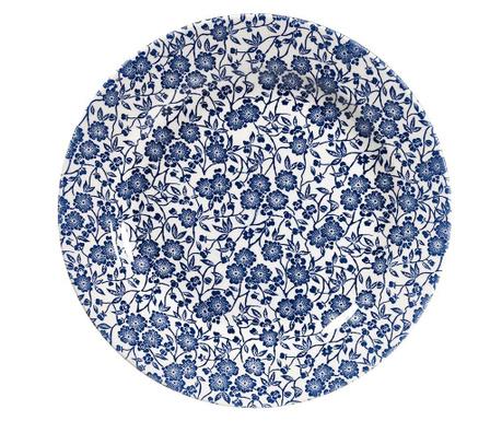 Sada 6 mělkých talířů Little Blue Flowers