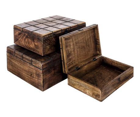 Sada 3 krabic s víkem Chess