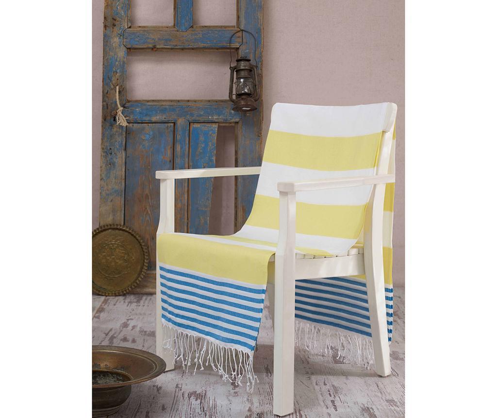 Prosop de plaja Fouta Antalya Yellow 100x180 cm