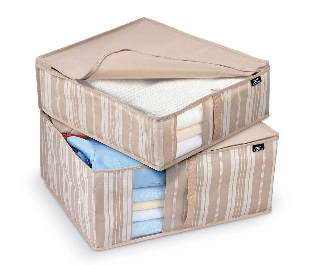 Set 2 huse pentru depozitare Stripes Linen and Blankets