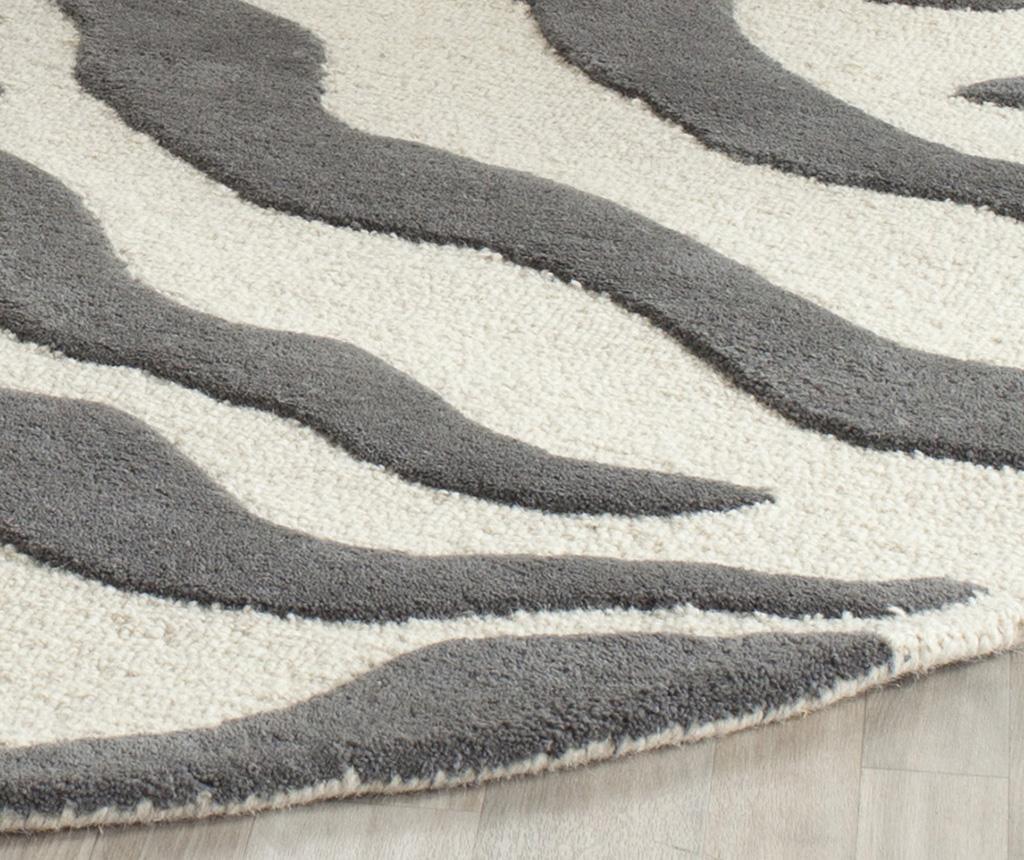 Nahla Ivory Dark Grey Szőnyeg 182x274 cm