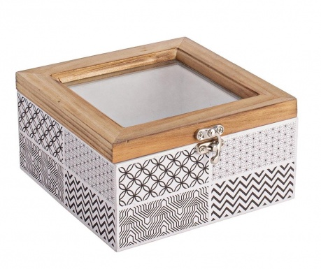 Кутия с капак Basso Square Black White