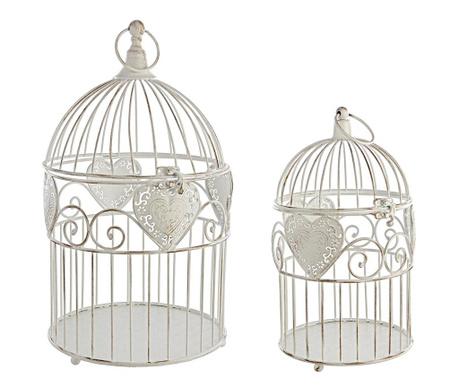 Set 2 dekorativnih ptičjih kletk Harmony